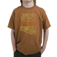 Load image into Gallery viewer, LA Pop Art Boy's Word Art T-shirt - Az Pics