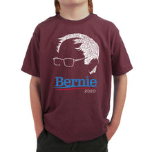 Load image into Gallery viewer, LA Pop Art Boy's Word Art T-shirt - Bernie Sanders 2020