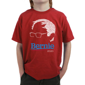 LA Pop Art Boy's Word Art T-shirt - Bernie Sanders 2020