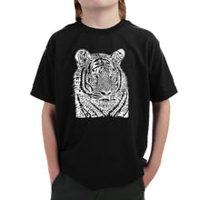 Load image into Gallery viewer, LA Pop Art Boy's Word Art T-shirt - Big Cats