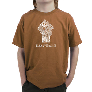LA Pop Art Boy's Word Art T-shirt - Black Lives Matter