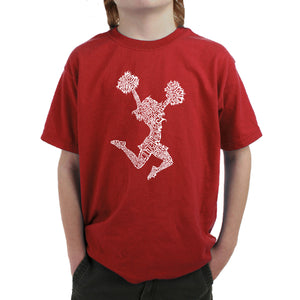 LA Pop Art Boy's Word Art T-shirt - Cheer