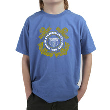 Load image into Gallery viewer, LA Pop Art Boy's Word Art T-shirt - Coast Guard