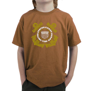 LA Pop Art Boy's Word Art T-shirt - Coast Guard