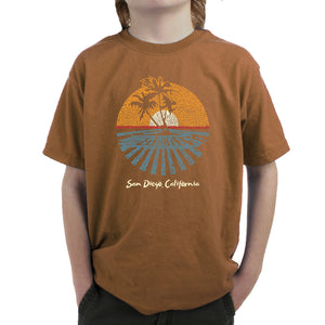 LA Pop Art Boy's Word Art T-shirt - Cities In San Diego