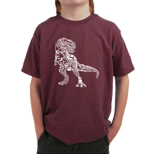 LA Pop Art Boy's Word Art T-shirt - Dino Pics