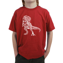 Load image into Gallery viewer, LA Pop Art Boy's Word Art T-shirt - Dino Pics