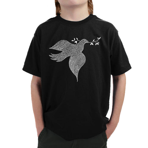 LA Pop Art  Boy's Word Art T-shirt - Dove