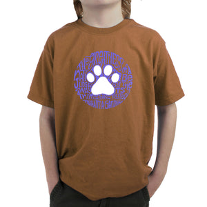 LA Pop Art Boy's Word Art T-shirt - Gandhi's Quote on Animal Treatment