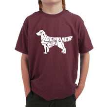 Load image into Gallery viewer, LA Pop Art  Boy's Word Art T-shirt - Golden Retreiver