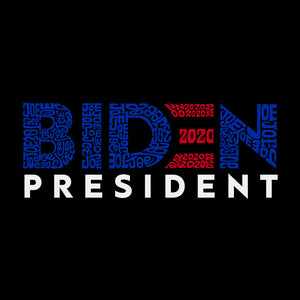 LA Pop Art Men's Premium Blend Word Art T-shirt - Biden 2020
