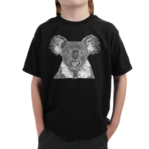 LA Pop Art Boy's Word Art T-shirt - Koala