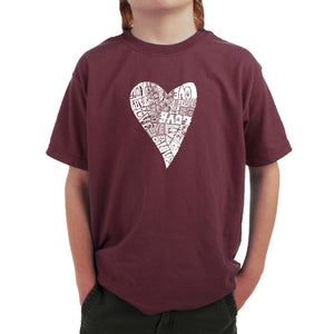 LA Pop Art Boy's Word Art T-shirt - Lots of Love