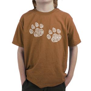 LA Pop Art Boy's Word Art T-shirt - Meow Cat Prints