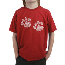 Load image into Gallery viewer, LA Pop Art Boy's Word Art T-shirt - Meow Cat Prints