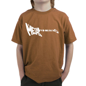 LA Pop Art Boy's Word Art T-shirt - Metal Head