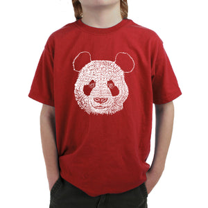 LA Pop Art Boy's Word Art T-shirt - Panda