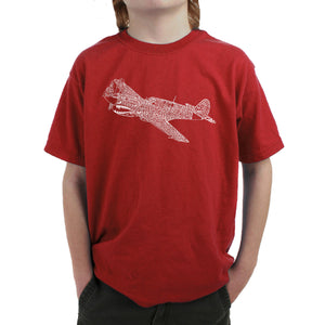 LA Pop Art Boy's Word Art T-shirt - P40