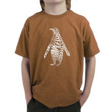 Load image into Gallery viewer, LA Pop Art  Boy's Word Art T-shirt - Penguin