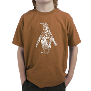 LA Pop Art  Boy's Word Art T-shirt - Penguin