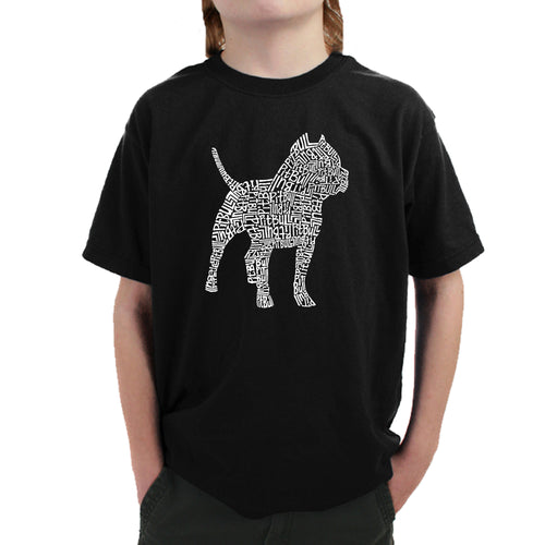 LA Pop Art  Boy's Word Art T-shirt - Pitbull