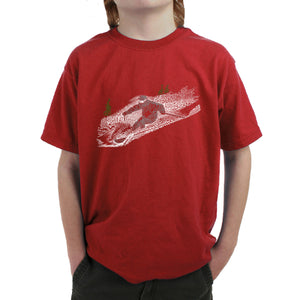 LA Pop Art Boy's Word Art T-shirt - Ski