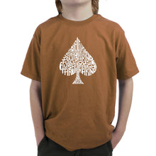 Load image into Gallery viewer, LA Pop Art Boy's Word Art T-shirt - ORDER OF WINNING POKER HANDS