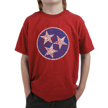 Load image into Gallery viewer, LA Pop Art Boy's Word Art T-shirt - Tennessee Tristar