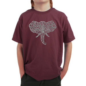 LA Pop Art Boy's Word Art T-shirt - Tusks