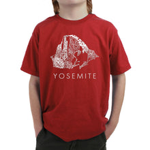 Load image into Gallery viewer, LA Pop Art  Boy's Word Art T-shirt - Yosemite