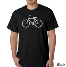 Load image into Gallery viewer, LA Pop Art Men's Word Art T-shirt - SAVE A PLANET, RIDE A BIKE
