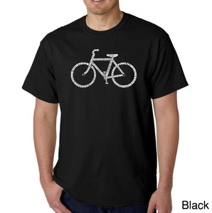LA Pop Art Men's Word Art T-shirt - SAVE A PLANET, RIDE A BIKE