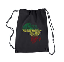 Load image into Gallery viewer, LA Pop Art Drawstring Backpack - Countries in Africa