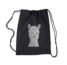 Load image into Gallery viewer, LA Pop Art Drawstring Backpack - Alpaca