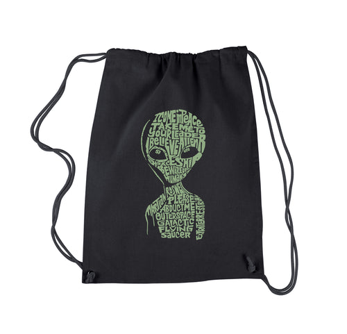 LA Pop Art Drawstring Backpack - Alien