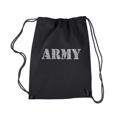 LA Pop Art Drawstring Backpack - LYRICS TO THE ARMY SONG