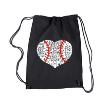 Load image into Gallery viewer, LA Pop Art Drawstring Backpack - Baseball Mom