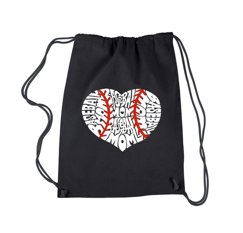 LA Pop Art Drawstring Backpack - Baseball Mom