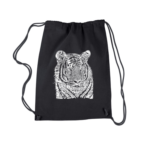 LA Pop Art  Drawstring Word Art Backpack - Big Cats