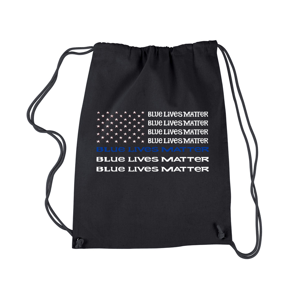 LA Pop Art Drawstring Backpack - Blue Lives Matter