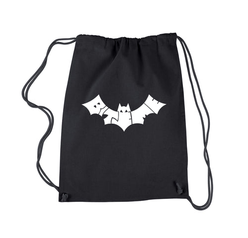 LA Pop Art Drawstring Backpack - BAT - BITE ME