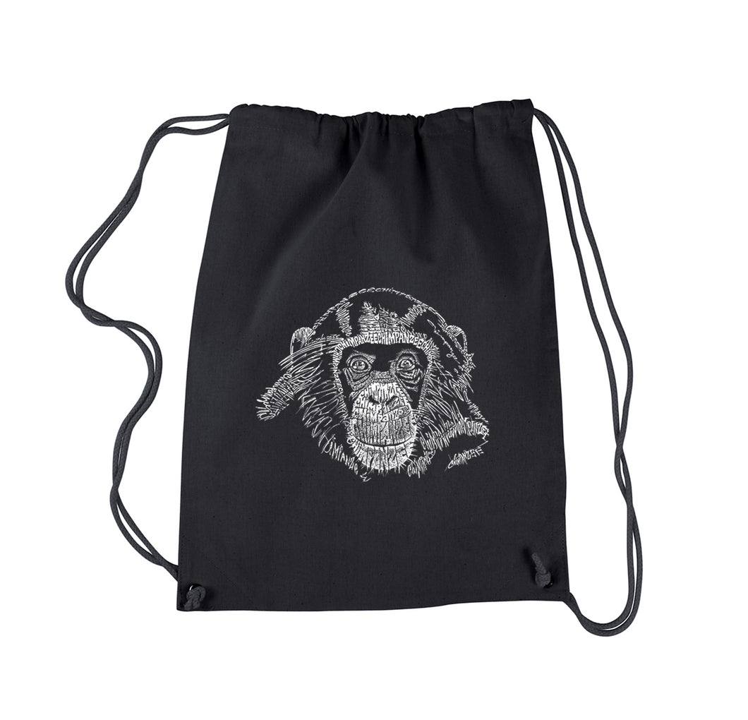 LA Pop Art Drawstring Backpack - Chimpanzee