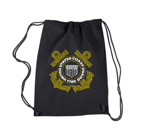 LA Pop Art Drawstring Backpack - Coast Guard