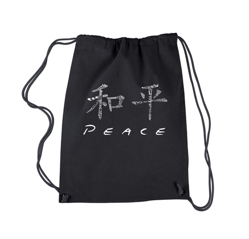 LA Pop Art Drawstring Backpack - CHINESE PEACE SYMBOL