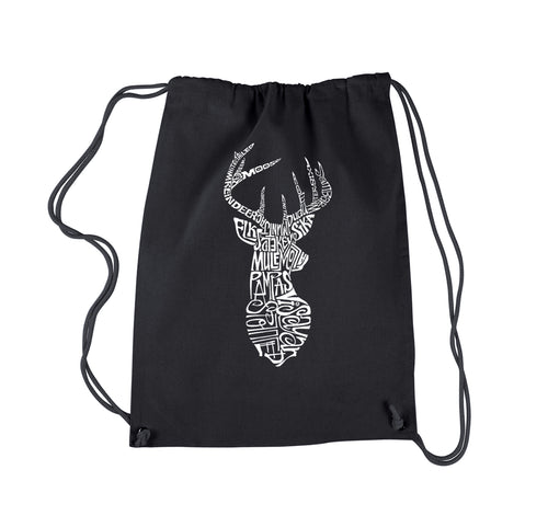 LA Pop Art Drawstring Backpack - Types of Deer
