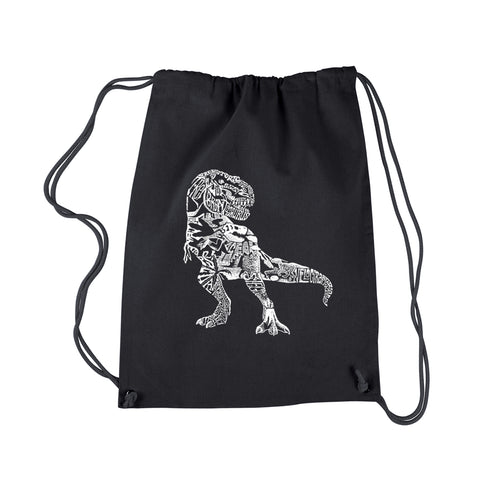 LA Pop Art Drawstring Backpack - Dino Pics