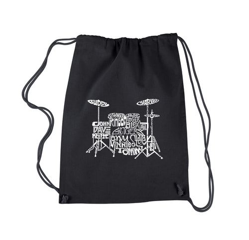 LA Pop Art Drawstring Backpack - Drums