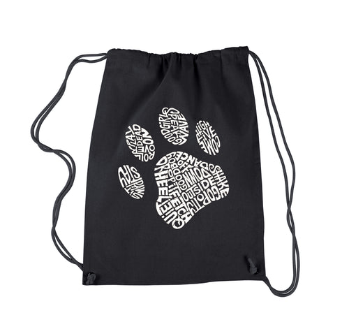 LA Pop Art Drawstring Backpack - Dog Paw