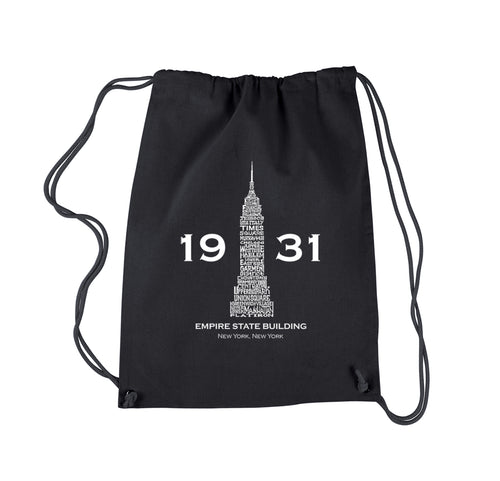 LA Pop Art Drawstring Backpack - Empire State Building