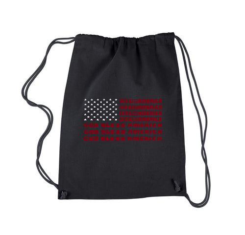 LA Pop Art Drawstring Backpack - God Bless America